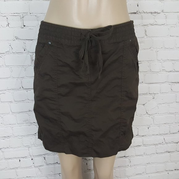 ANN TAYLOR LOFT Brown Cotton Mini skirt 4
